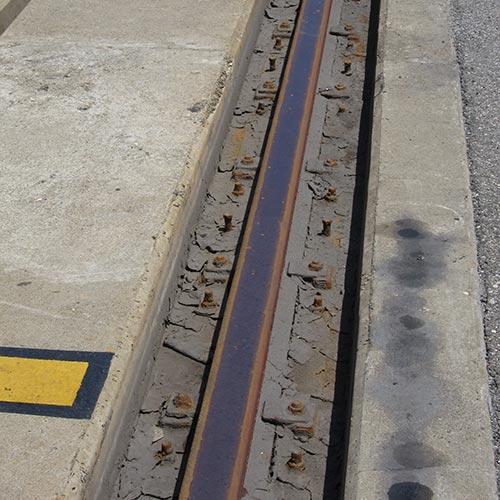 Crane Rail Requiring Refurbishment