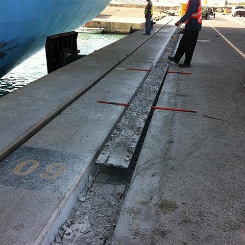 Removing previous crane rail
