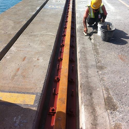Finishing refurbished crane rail