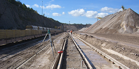 Crane Rail systems for Rail systems for cement works