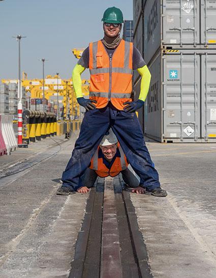 Crane Rail Grout Infill